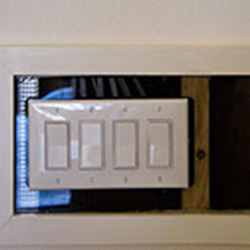 xOn Top of the World Communities quality construction Exterior wall electrical outlets are insulated.