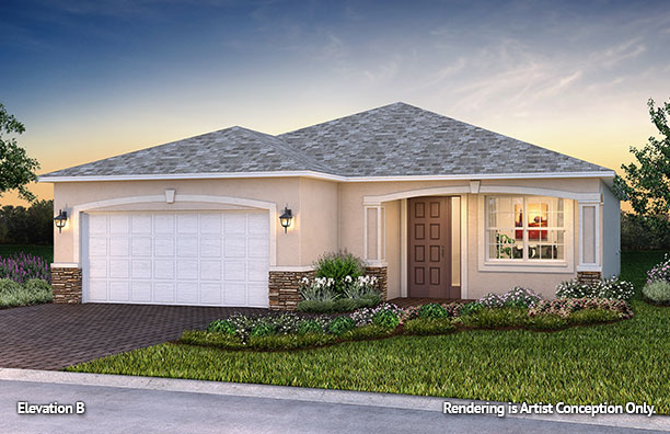 On Top of the World Communities Ocala FL Floor plans Classic Series Orchid B retirement