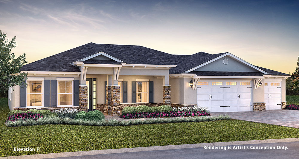 On Top of the World Communities Ocala FL Floor plans Estate Series Brighton F retirement