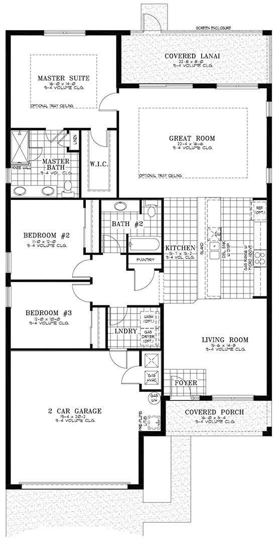 On Top of the World Communities Ocala FL Floor plans Classic Series Orchid retirement