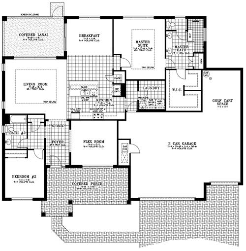On Top of the World Communities Ocala FL Floor plans Estate Series Brighton