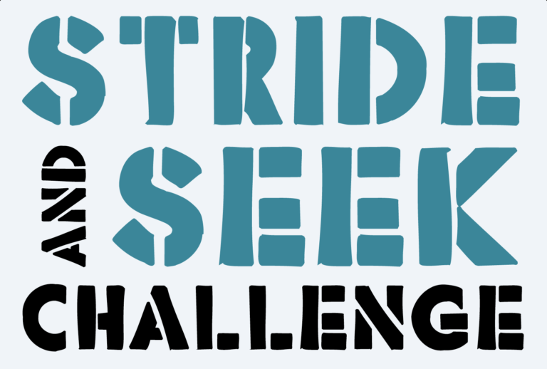 Stride and Seek Challenge at On top of the World