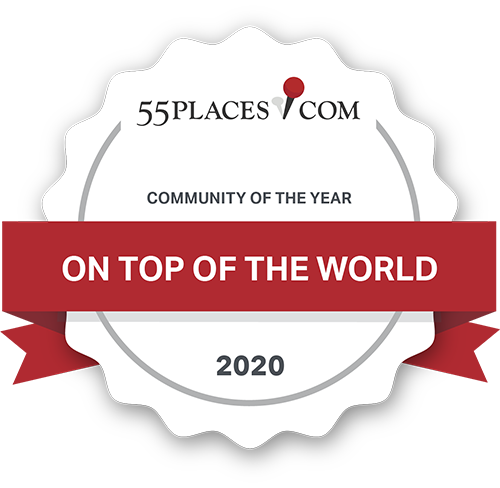 55Pleaces.com Community of the Year On Top of the World Communities