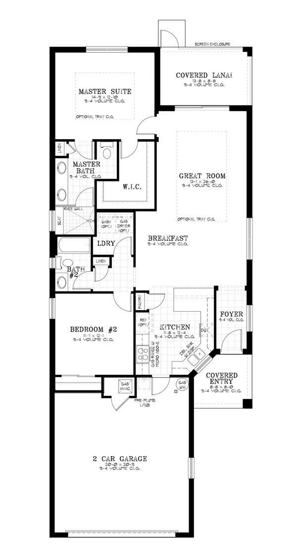On Top of the World Communities Ocala FL Floor plans Cottage Series Oren A retirement